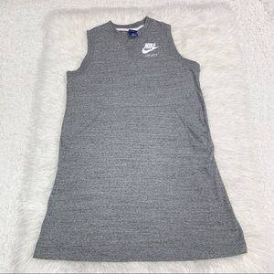 Nike Grey Cotton Athletic Dress Pockets Large